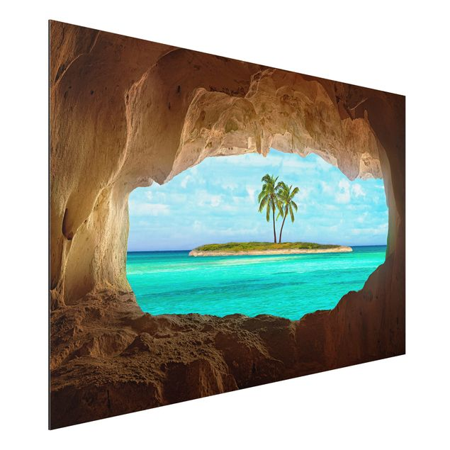 Alu-Dibond Bild - Blick ins Paradies