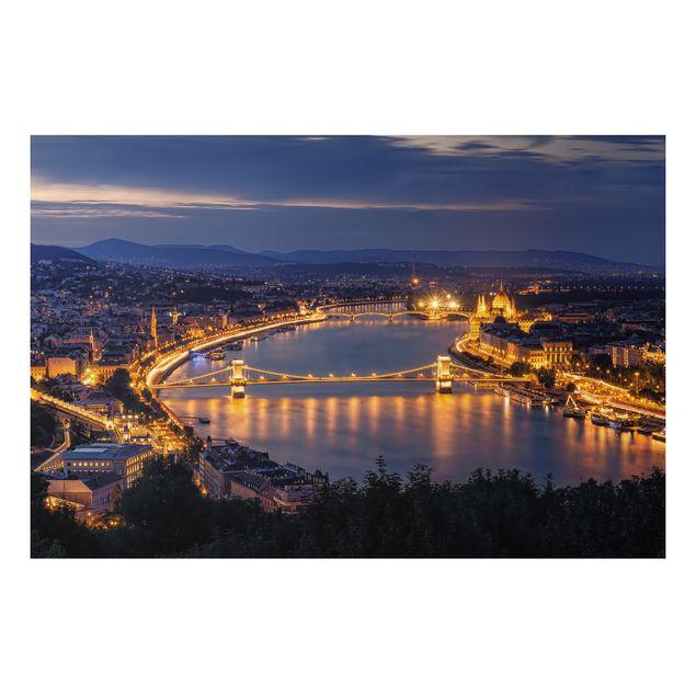 Alu-Dibond Bild - Blick über Budapest