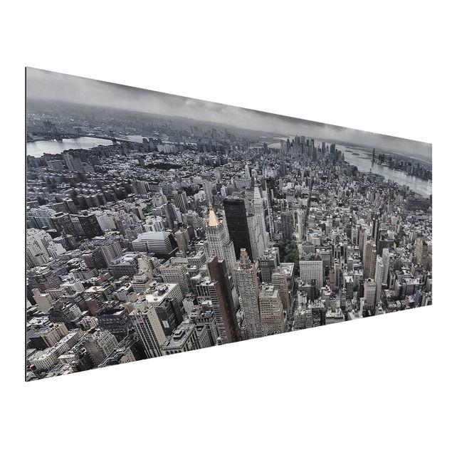 Aluminium Print - Blick über Manhattan - Panorama