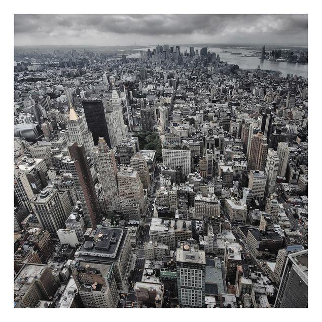 Aluminium Print - Blick über Manhattan - Quadrat 1:1