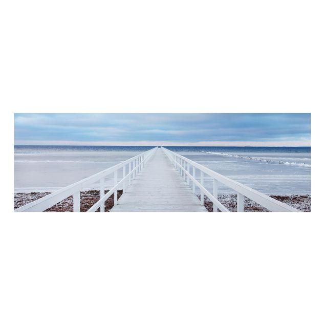 Alu-Dibond Bild - Brücke in Schweden