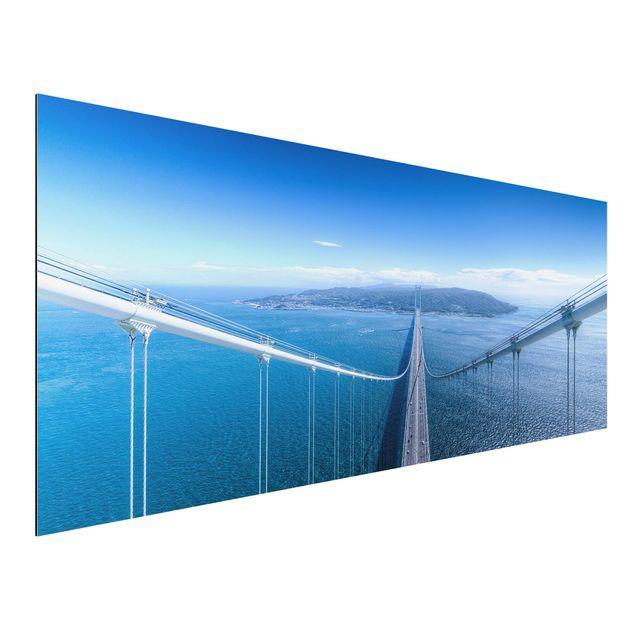 Aluminium Print - Brücke zur Insel - Panorama