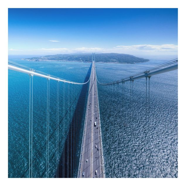 Aluminium Print - Brücke zur Insel - Quadrat 1:1