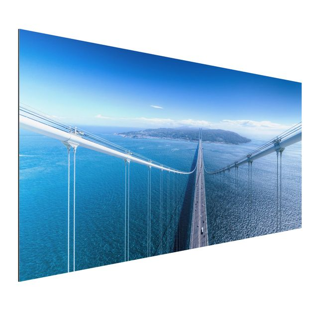 Aluminium Print - Brücke zur Insel - Querformat 1:2