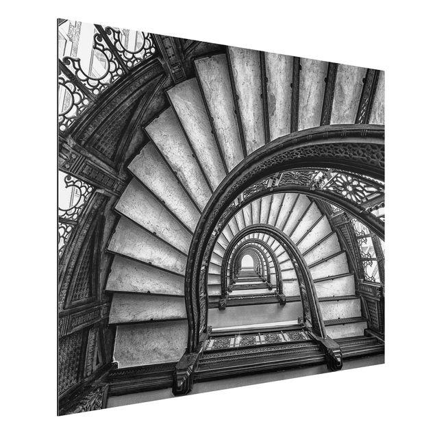 Aluminium Print - Chicagoer Treppenhaus - Querformat 3:4