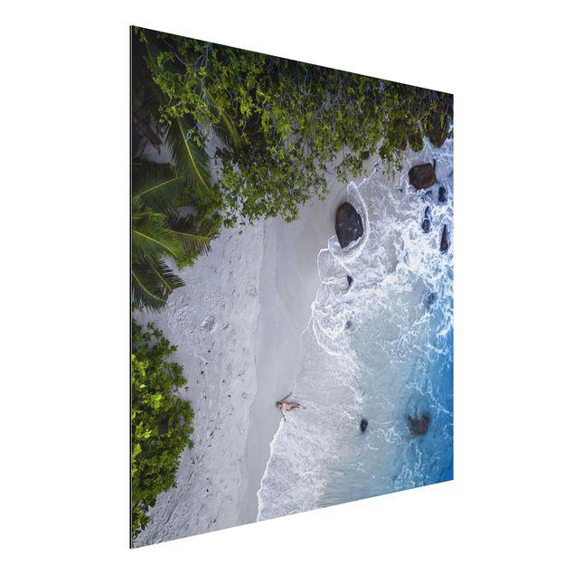 Aluminium Print - Das Paradies auf Erden - Quadrat 1:1