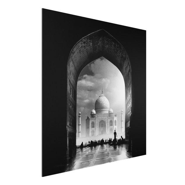 Aluminium Print - Das Tor zum Taj Mahal - Quadrat 1:1