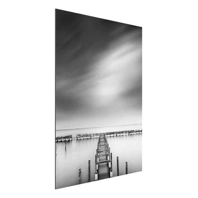 Aluminium Print - Der alte Pier - Hochformat 4:3