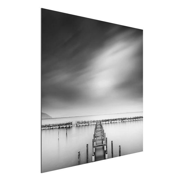 Aluminium Print - Der alte Pier - Quadrat 1:1