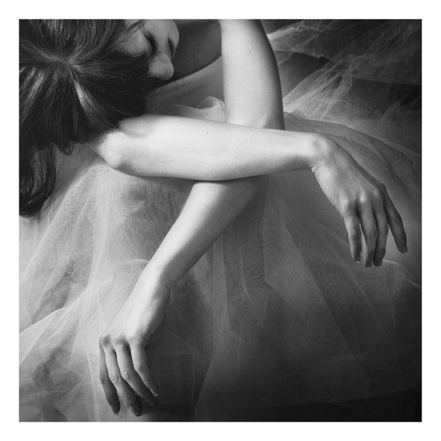 Aluminium Print - Die Hände einer Ballerina - Quadrat 1:1