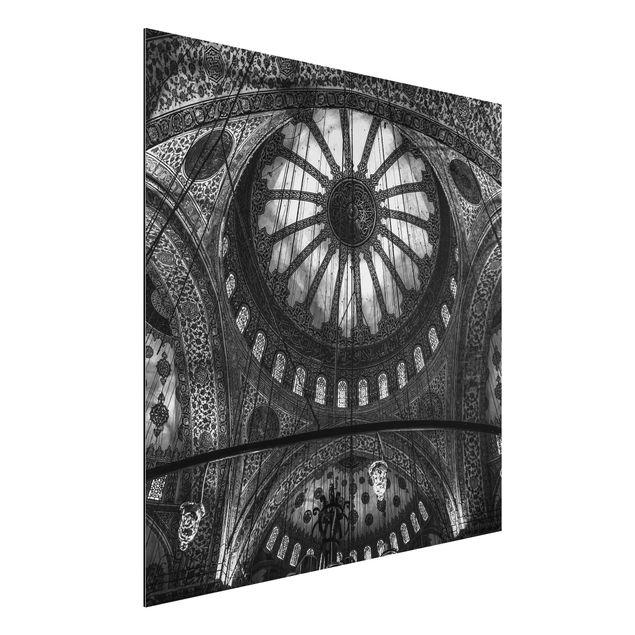 Aluminium Print - Die Kuppeln der blauen Moschee - Quadrat 1:1