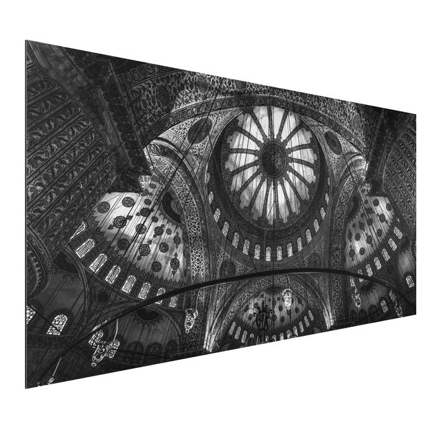 Aluminium Print - Die Kuppeln der blauen Moschee - Querformat 1:2