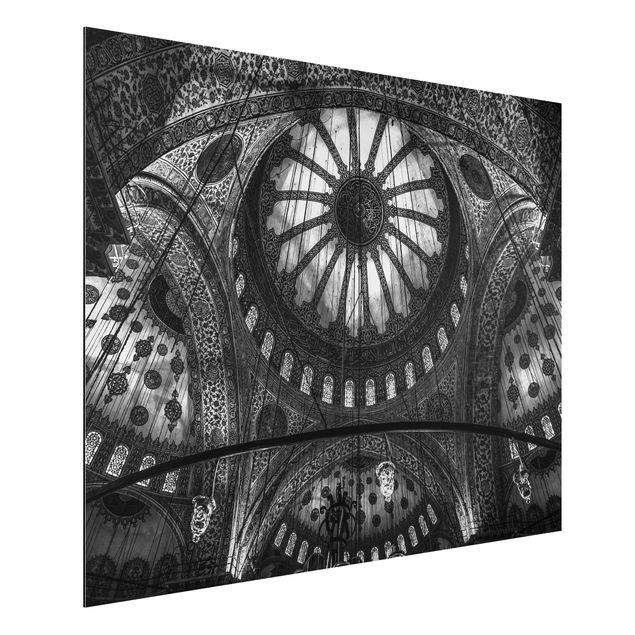 Aluminium Print - Die Kuppeln der blauen Moschee - Querformat 3:4
