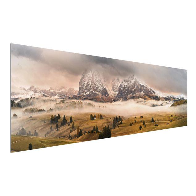 Alu-Dibond Bild - Dolomiten Mythen