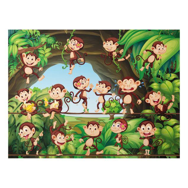 Alu-Dibond Bild - Dschungelaffen
