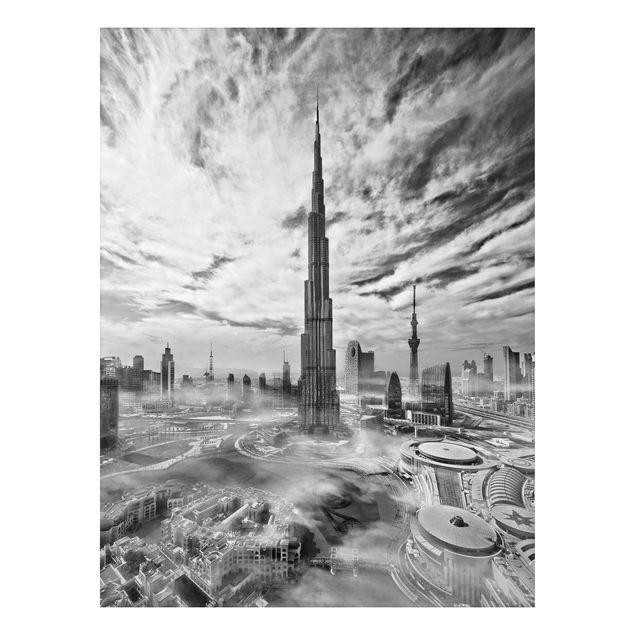 Aluminium Print - Dubai Super Skyline - Hochformat 4:3