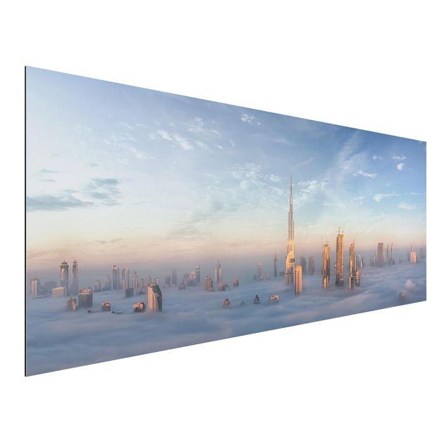 Aluminium Print - Dubai über den Wolken - Panorama