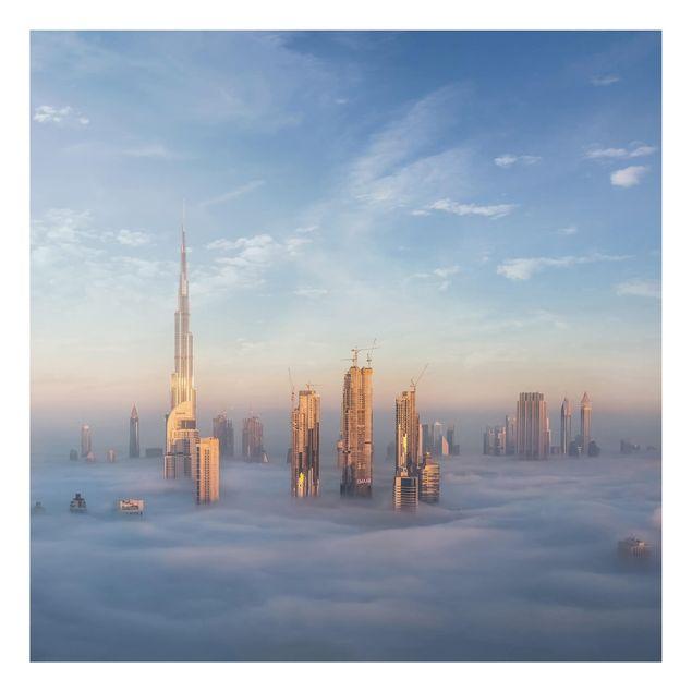 Aluminium Print - Dubai über den Wolken - Quadrat 1:1