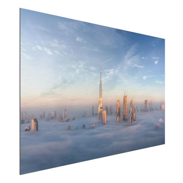 Aluminium Print - Dubai über den Wolken - Querformat 2:3