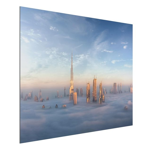 Aluminium Print - Dubai über den Wolken - Querformat 3:4