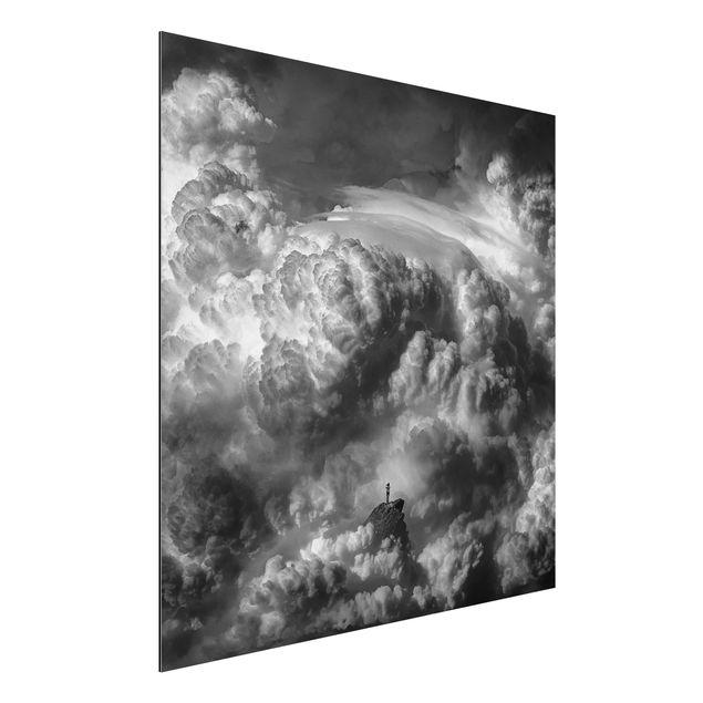Aluminium Print - Ein Sturm zieht auf - Quadrat 1:1