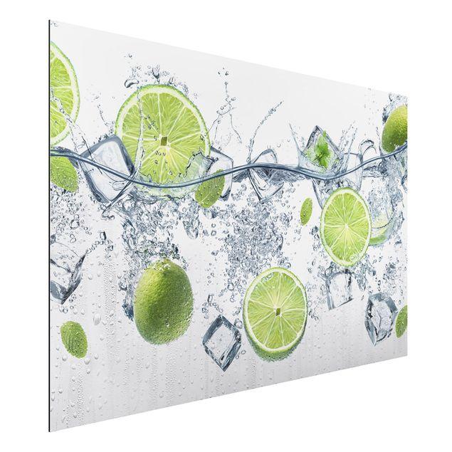 Alu-Dibond Bild - Erfrischende Limette