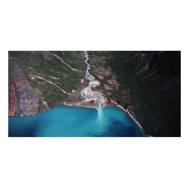 Aluminium Print - Fluss in Grönland - Querformat 1:2
