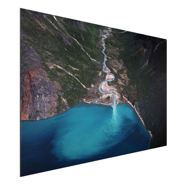 Aluminium Print - Fluss in Grönland - Querformat 2:3