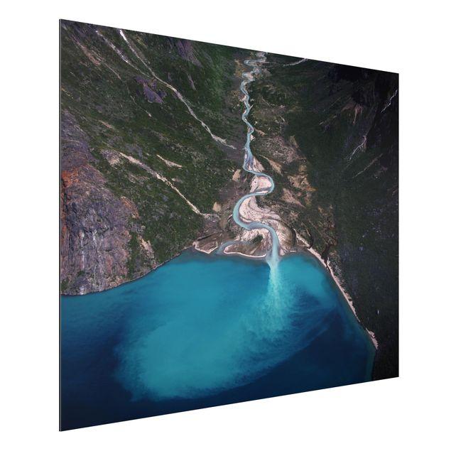 Aluminium Print - Fluss in Grönland - Querformat 3:4