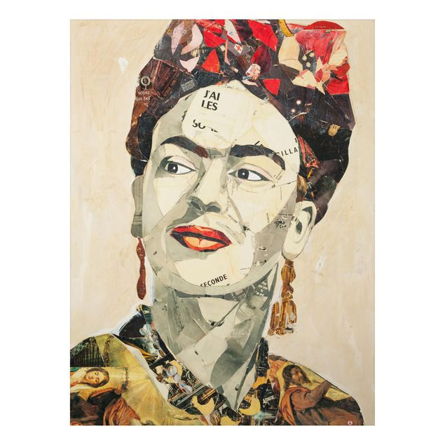 Alu-Dibond Bild - Frida Kahlo - Collage No.2