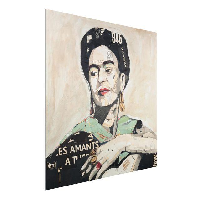 Alu-Dibond Bild - Frida Kahlo - Collage No.4