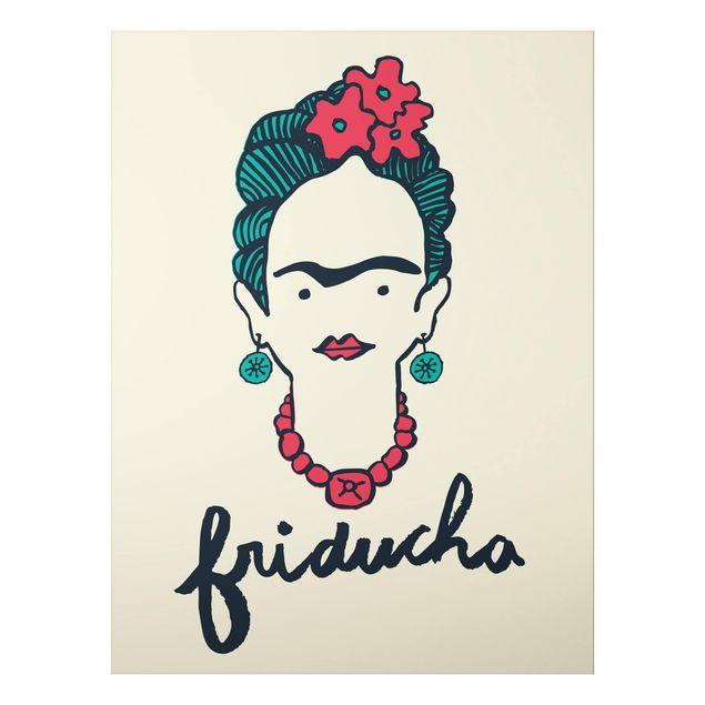 Alu-Dibond Bild - Frida Kahlo - Friducha