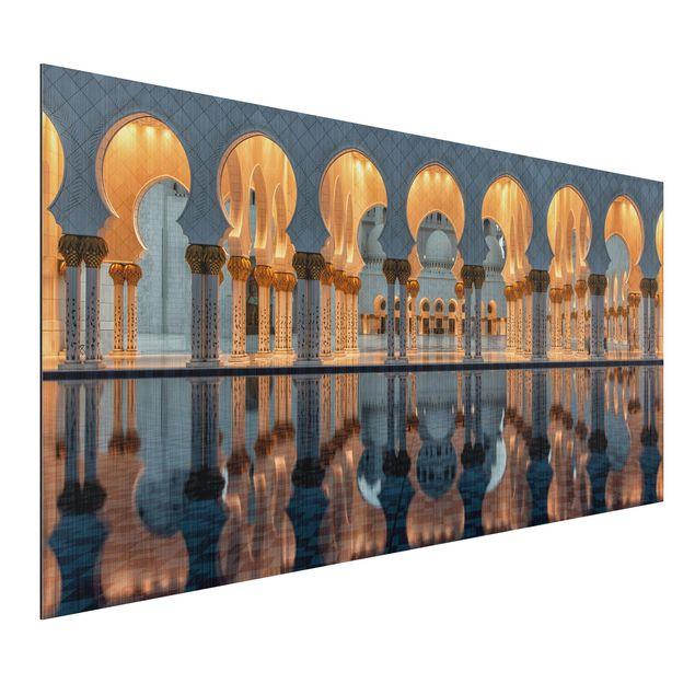 Alu-Dibond Bild - Reflexionen in der Moschee