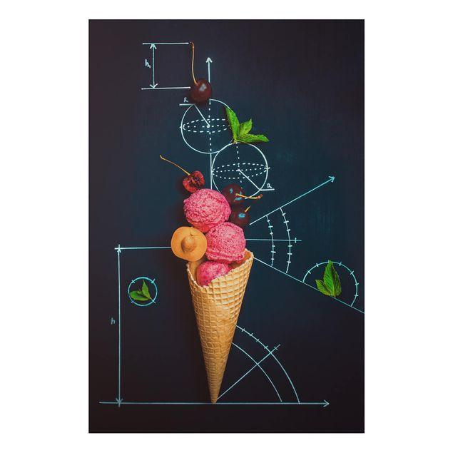 Alu-Dibond Bild - Geometrie im Sommer