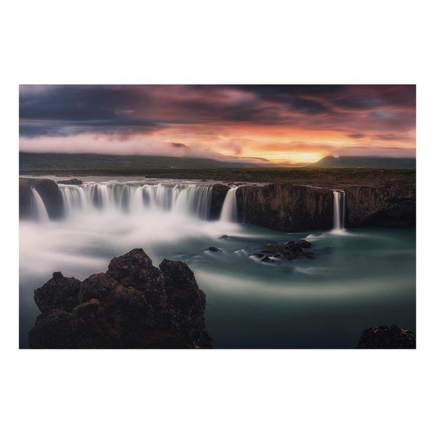 Alu-Dibond Bild - Goðafoss Wasserfall in Island