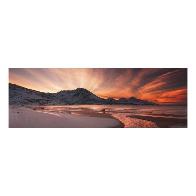 Alu-Dibond Bild - Goldener Sonnenuntergang