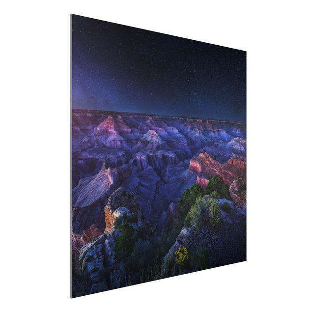 Alu-Dibond Bild - Grand Canyon Night