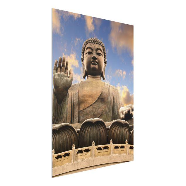 Alu-Dibond Bild - Großer Buddha Sepia