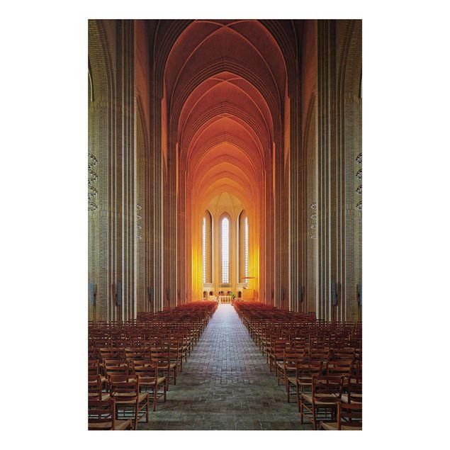 Alu-Dibond Bild - Grundtvigskirche in Kopenhagen