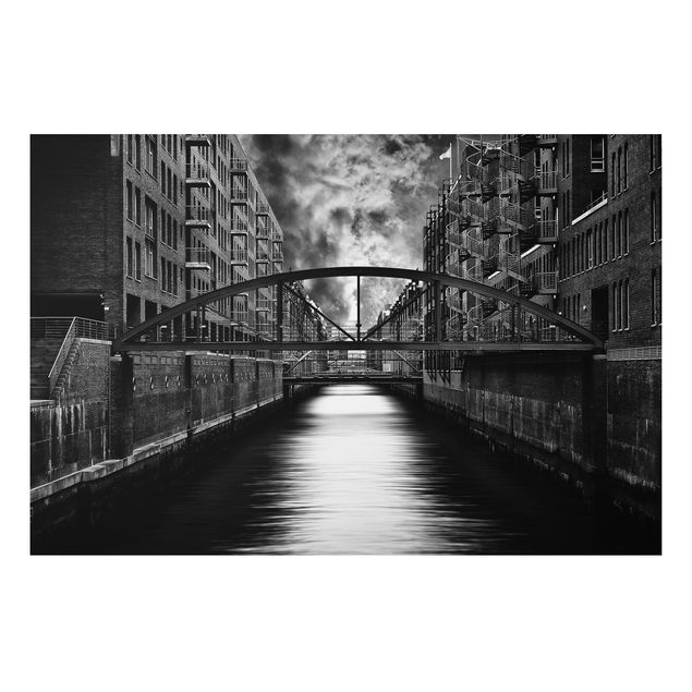 Alu-Dibond Bild - Hamburgs andere Seite