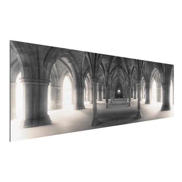 Alu-Dibond Bild - Historische Säulen