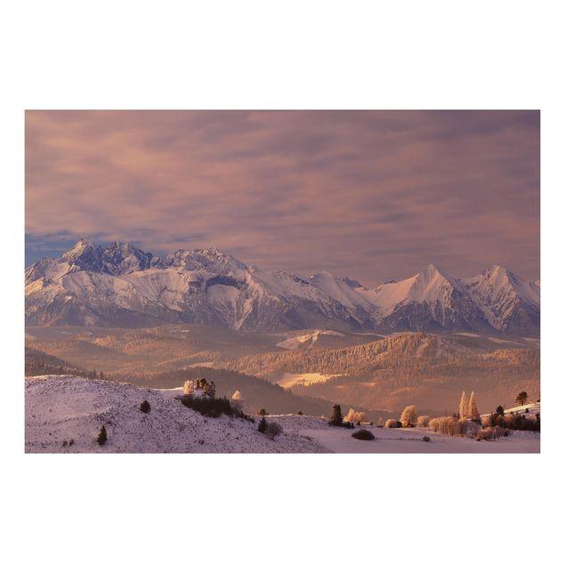 Alu-Dibond Bild - Hohe Tatra am Morgen