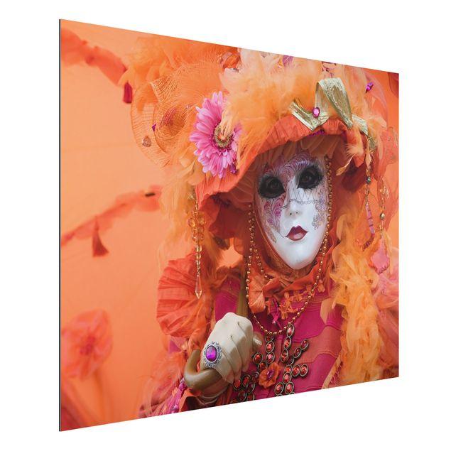 Alu-Dibond Bild - Karneval in Orange