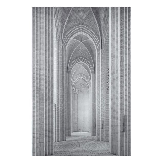 Alu-Dibond Bild - Kreuzgang in der Grundtvigs Kirke