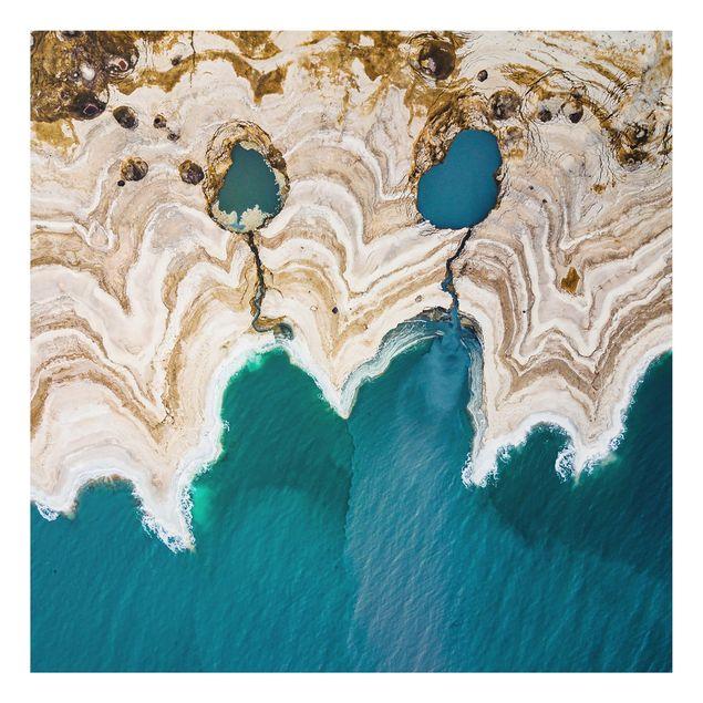 Aluminium Print - Lagune in Israel - Quadrat 1:1