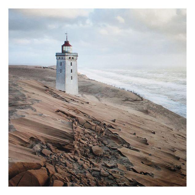 Alu-Dibond Bild - Leuchtturm in Dänemark