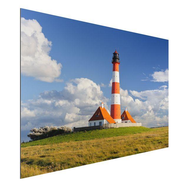Alu-Dibond Bild - Leuchtturm in Schleswig-Holstein