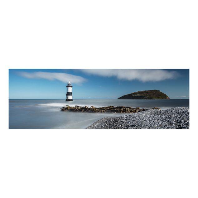 Alu-Dibond Bild - Leuchtturm in Wales