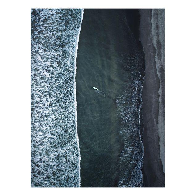Aluminium Print - Luftbild - Der Herausforderer - Hochformat 4:3