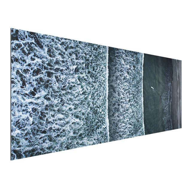 Aluminium Print - Luftbild - Der Herausforderer - Panorama
